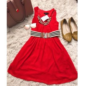 BCX RED FLARE DRESS WITH BELT INCLUDED ❤️❤️🔥🔥
